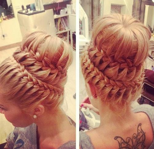 Braided Bun Hairstyles Tumblr